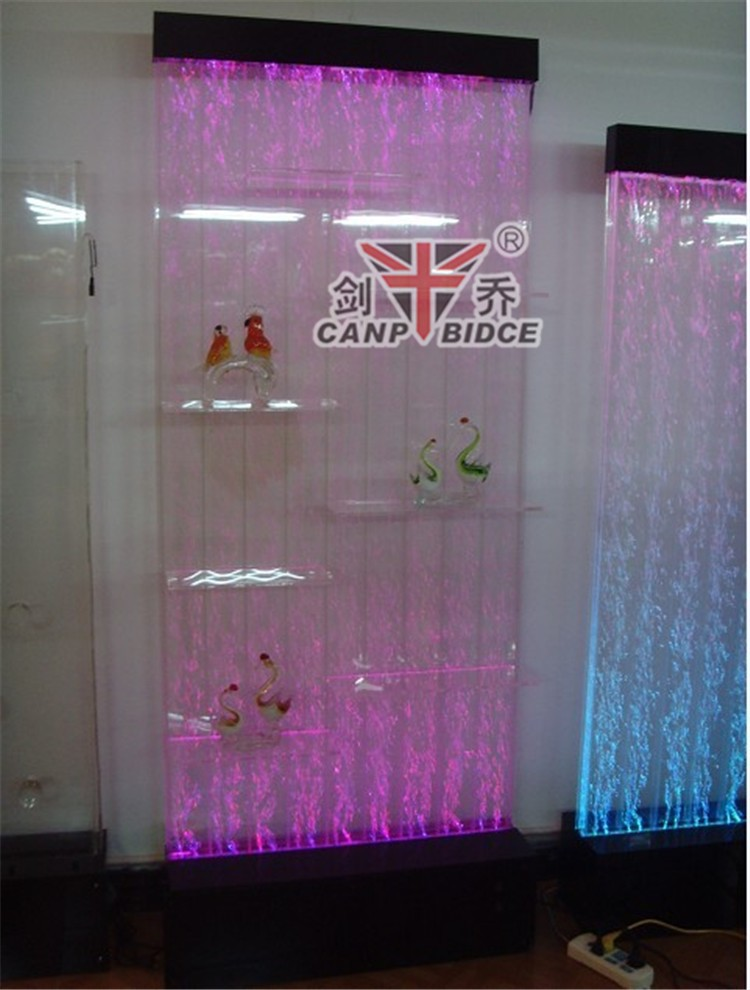 Large Aquarium Decorations Water Feature Wall Shelf Display