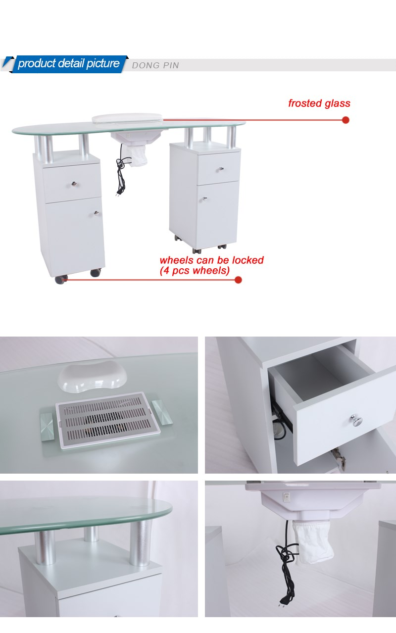 Beauty Salon Furniture Nail Manicure Table Witn Exhaust Fans - Buy ...