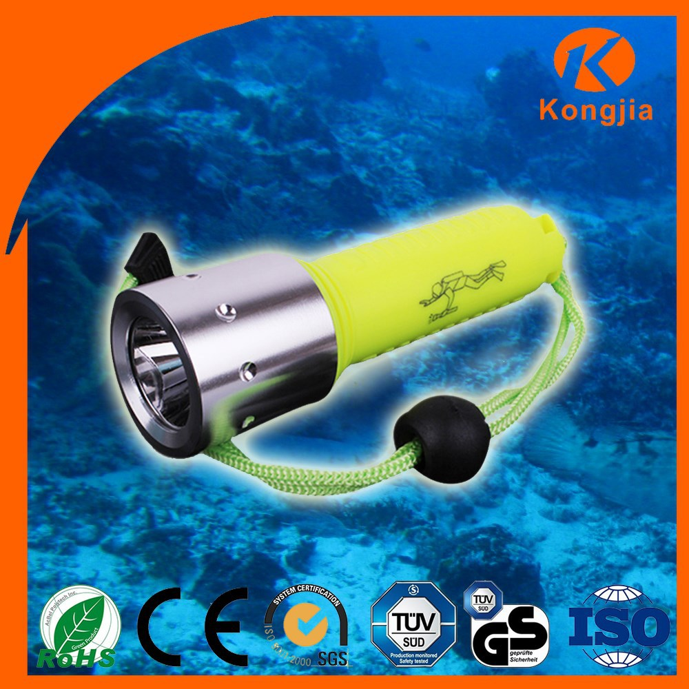 Lithium battery Rechargeable Flat Led Flashlight Dive Video Light