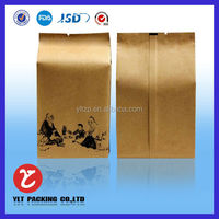 wholesale Eco Friendly handbag stand up kraft paper bag