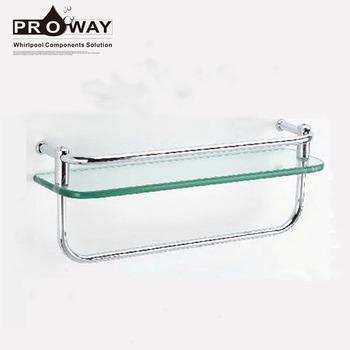 Glass Shelves In Bathrooms Hanging Shower Racks Standing Towel Shelf