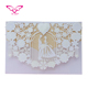 Million PCS Sold Out Dilian Wedding Top 10 Hot Sales Pocket Fold Pure White Laser Cut Wedding Invitations
