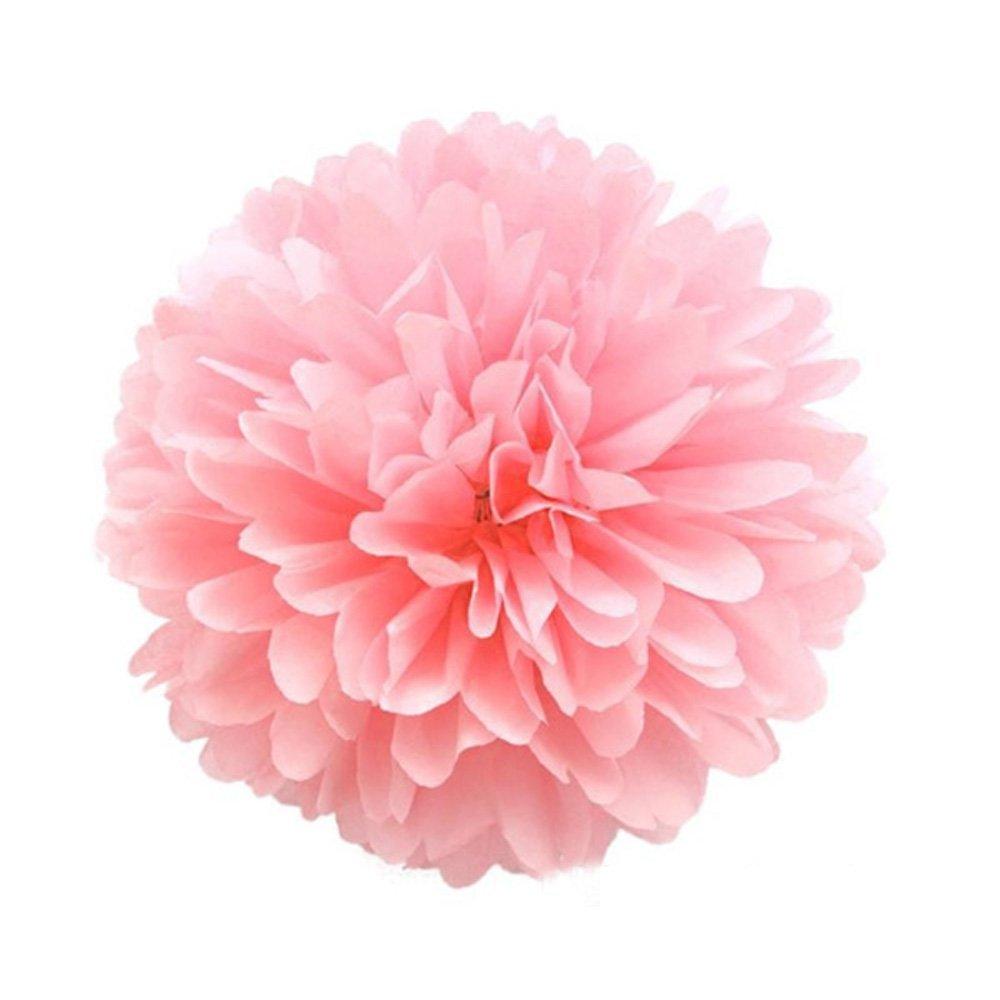 Buy CheckMineOut 6Pcs 10inch Pink Tissue Paper Pom Poms Decorative ...