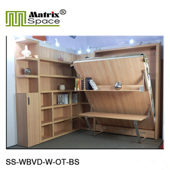 Smart Furniture With Bookshelf And Office Tablesmart Wall Beds Matrix