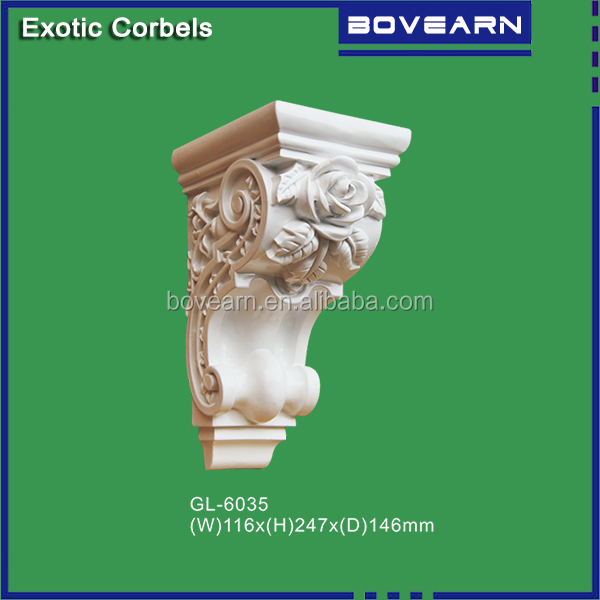 Classic architectural corbels for ceiling design