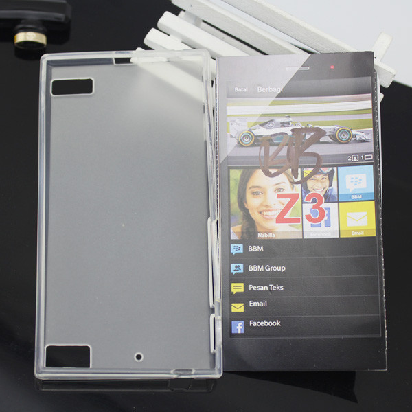 Good quality tpu case for blackberry z3 blank case