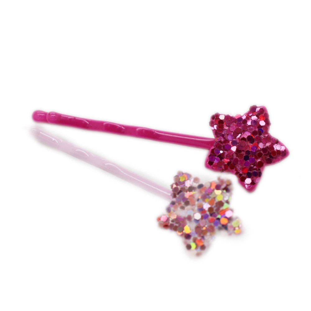 Bobby Pin With Glitter Star Decoration Buy Narrow Bobby Pin Glitter