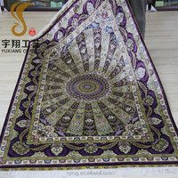 5x7feet luxury carpets rug living room, high quality handmade silk persian carpet christmas ornaments 2016
