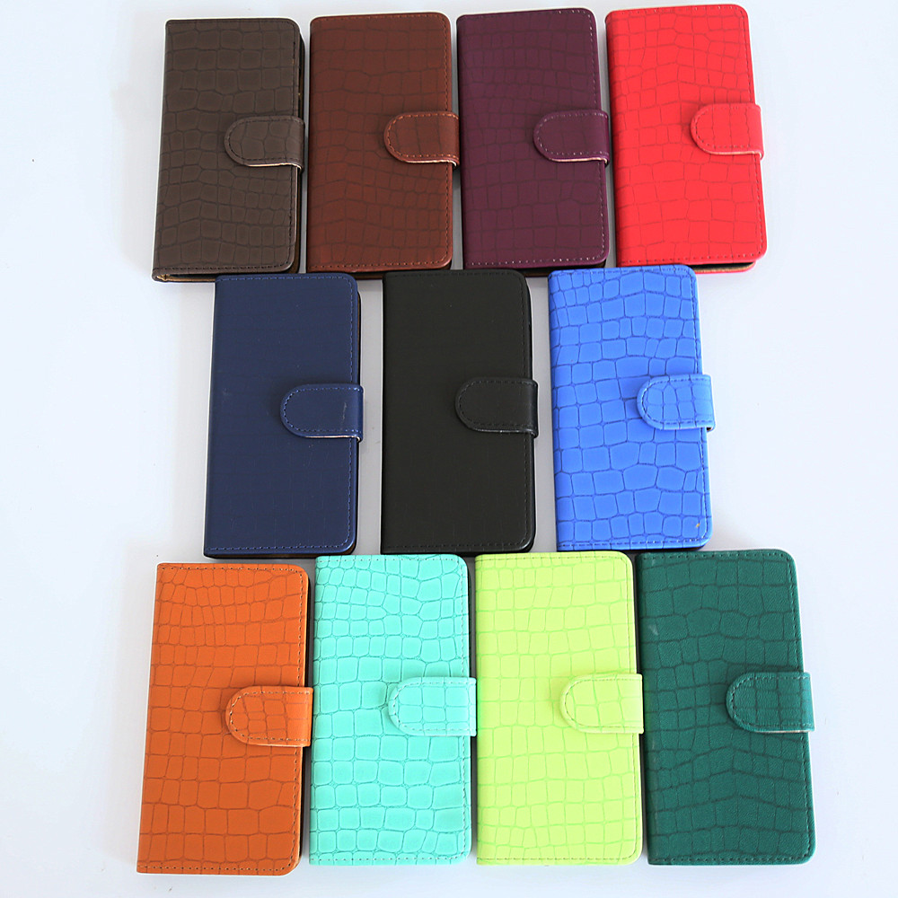 Perfect Fit Magnetic Crocodile Leather Wallet Case For ZTE V8 LITE