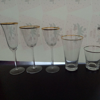 Wholesale Gold Silver Rimmed WIne Glasses