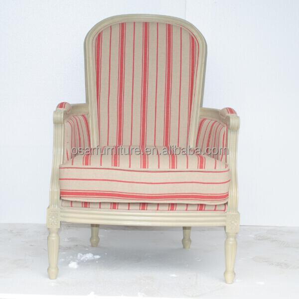 Antike Französisch Landschaft Stil Rosa Stoff Wohnzimmer Holz Sessel
