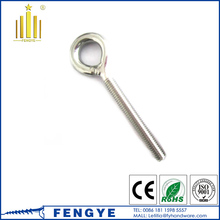 Stainless Steel Long Eye Bolt with Nut and Washer