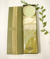 wholesale olive oil candles with packing box