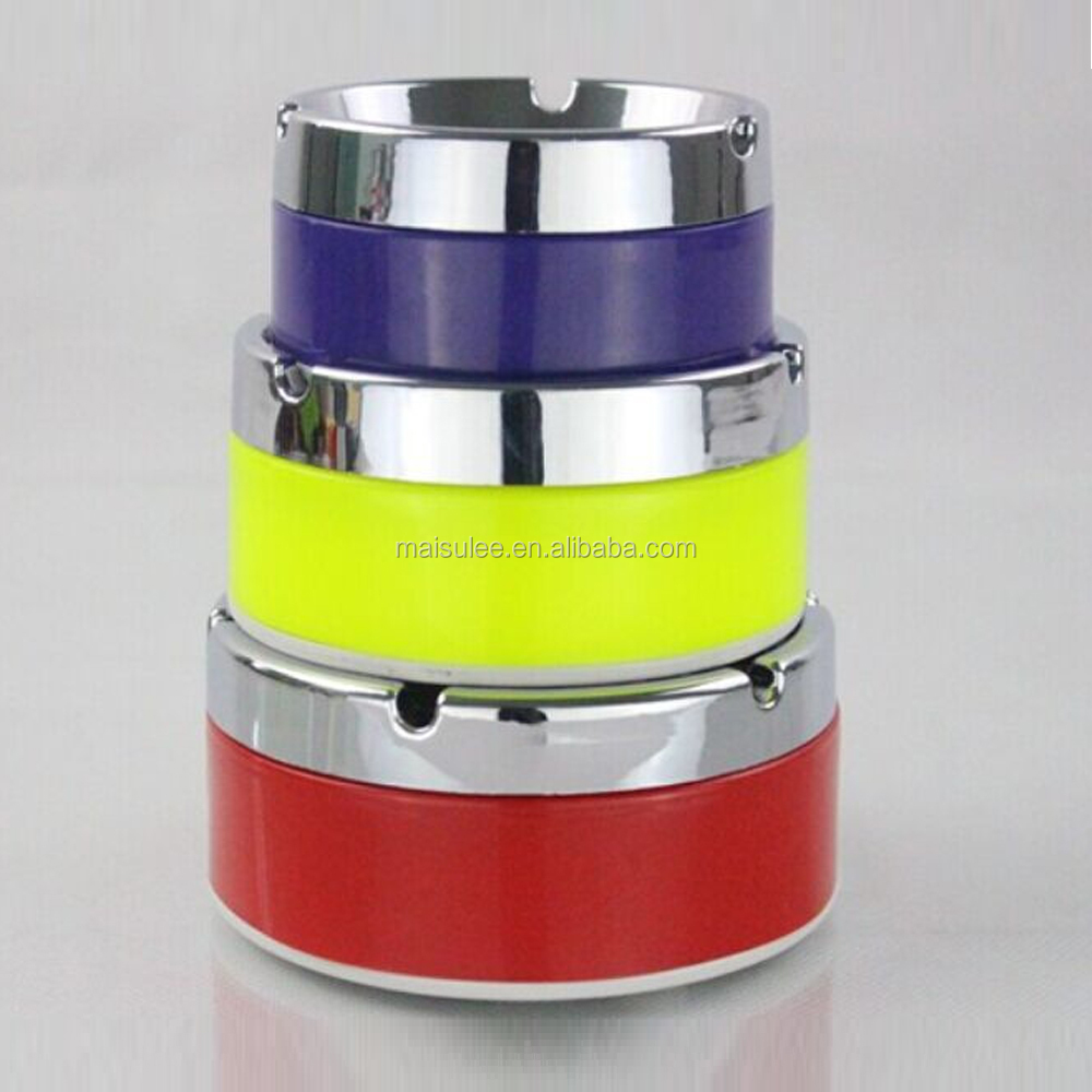 ashtray metal melamine with zinc aluminium portable outdoor ashtray