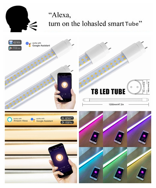 Smartphone Remote Control Tunable White T8 22w Wifi Smart Light Led Tube  Via Tuya App - Buy Led Tube Light,Led Tube Lighting,Wifi Led Tube Product  on
