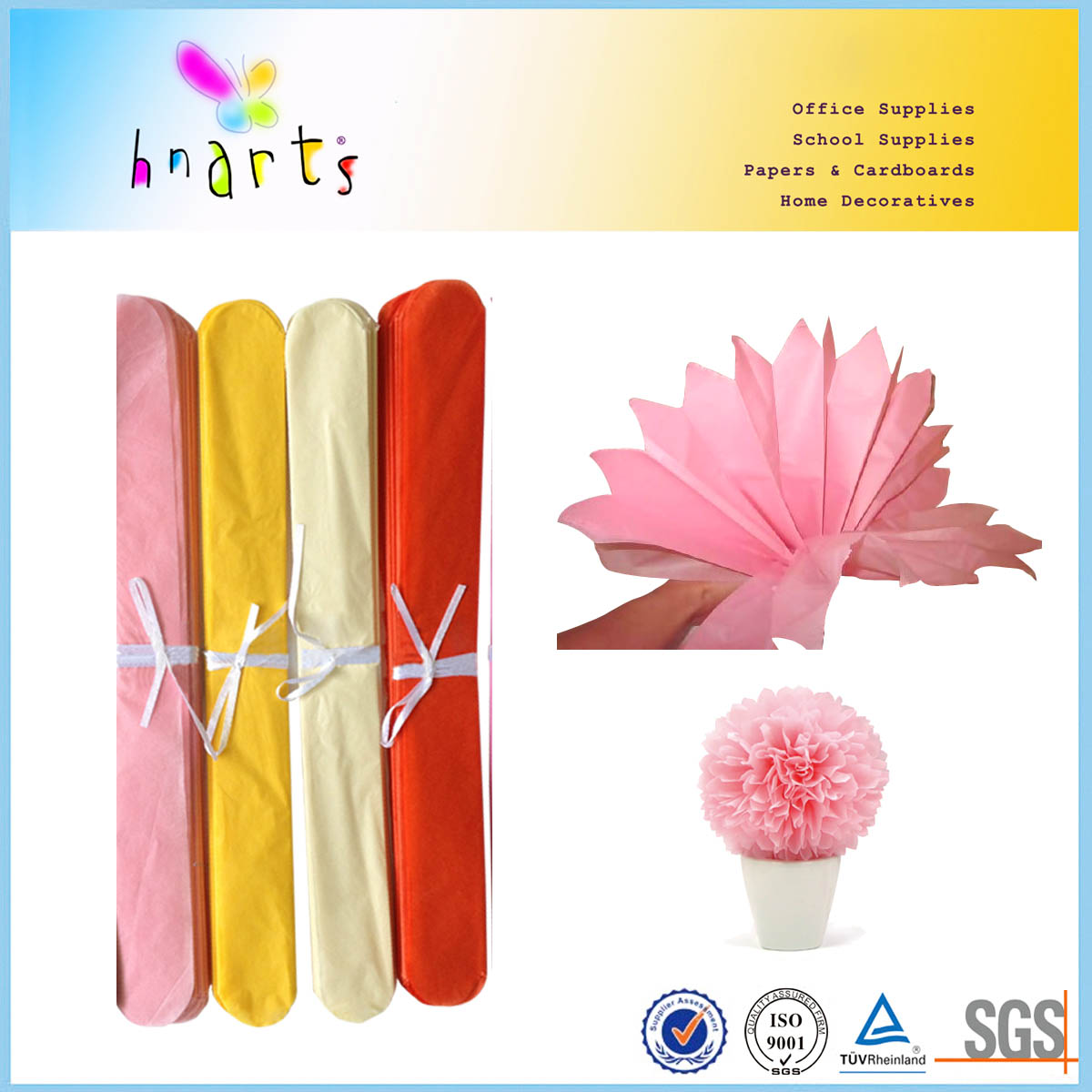 Wrapping Paper Tissue Paper Pom Pomskite Paper Flower Buy Tissue