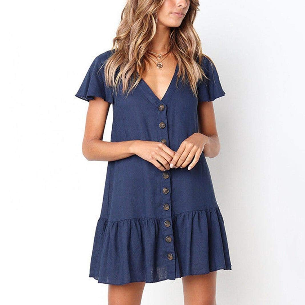 af02f37c726 Get Quotations · HTHJSCO Women s T-Shirt Loose Dress