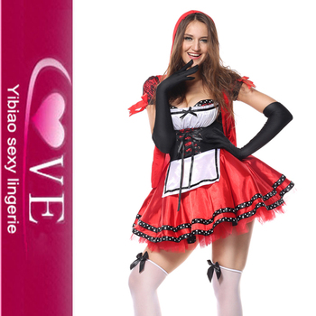 Cute Carnival Fancy Dress Sexy Miss Red Riding Hood Costume Plus