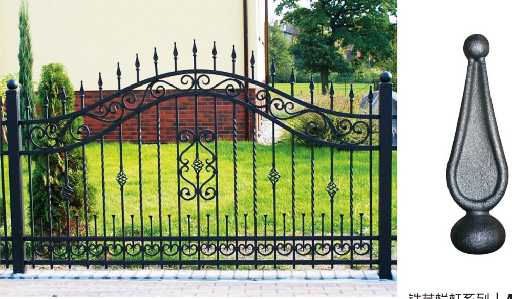 New Design Metal Iron Fence/iron Pipe Fence Gate Color Design ...
