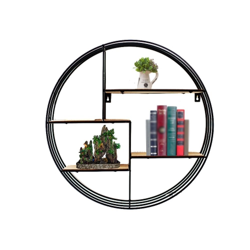 LQQGXL Storage and organization Wall mounted iron wall hanger living room creative decorative frame solid wood wall frame iron wall frame (Size : 80x20cm)