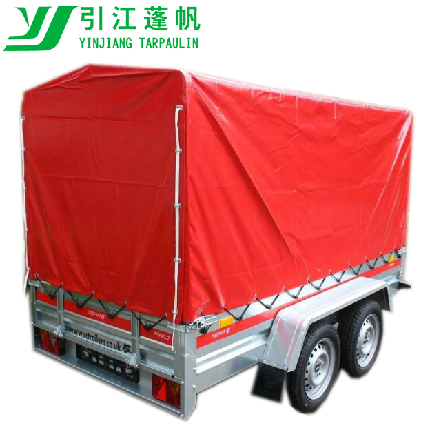 Caged Red 380g/m2 PVC trailer cover