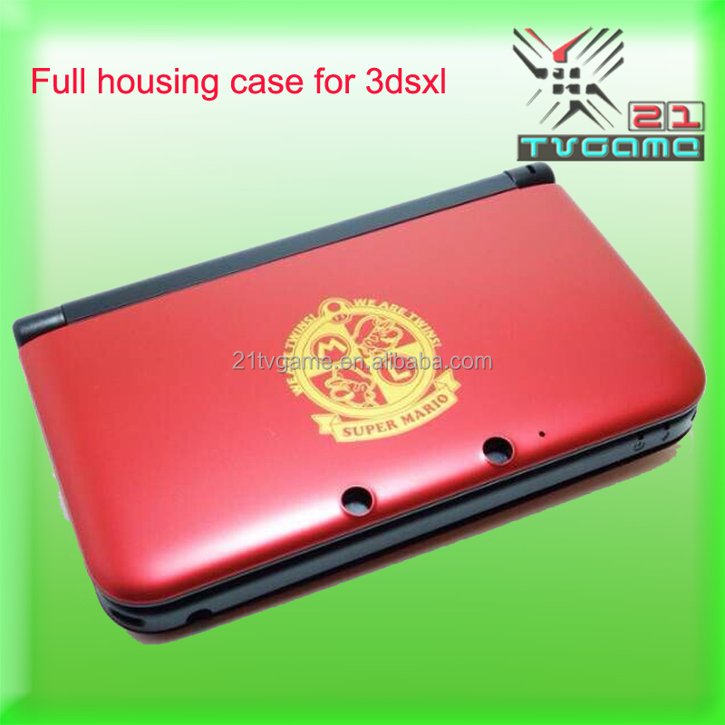 Full Housing Shell Case For 3dsxl Repair Parts +Tool +glass for 3DS XL/3DS LL game console red Mario