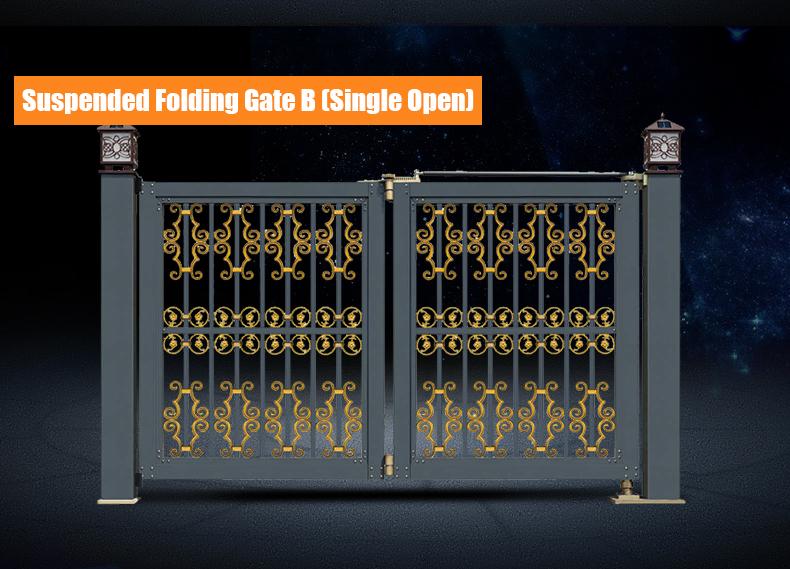 Electric auto folding expandable gate manufacturer QG-L958B
