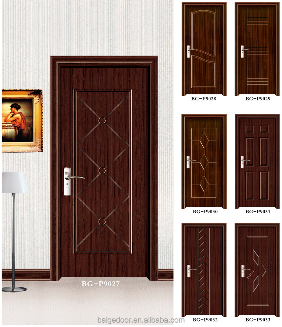 Bg p9027 wooden doors design catalogue latest design for Wooden main door design catalogue