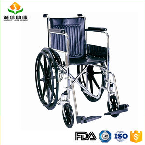 Cheap price detachable footrest and fixed armrest solid mag wheel manual wheelchair for disabled or elder