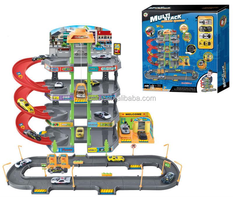 jouets piste skyline garage jouer ensemble avec 4 pcs. Black Bedroom Furniture Sets. Home Design Ideas