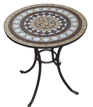 24 Round Mosaic Tile Design Table Top Hot