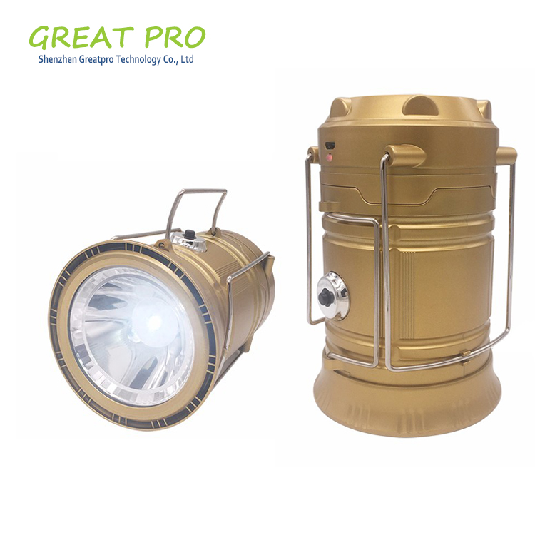 Durable Mini Emergency Tent Solar Foldable Hanging Camping Lighting, Solar Camping Lantern for Hiking Wholesale