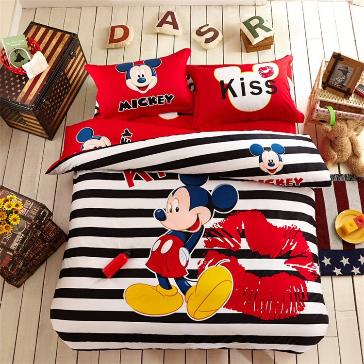 Enfants Mickey Minnie Mouse Presente Literie Ensemble De Literie