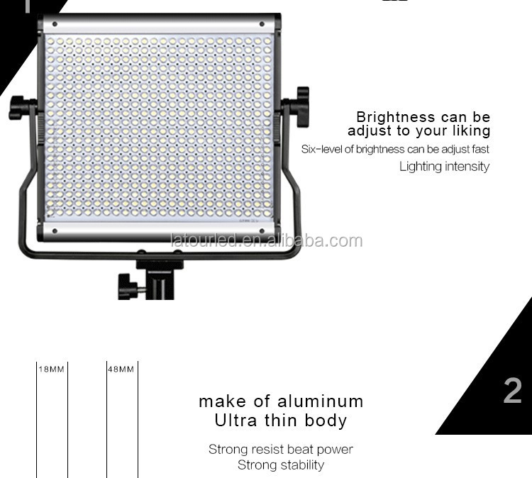 Ultra Thin Dimmable 480 Led Panel Light Bi-color 3200k- 5600k ...