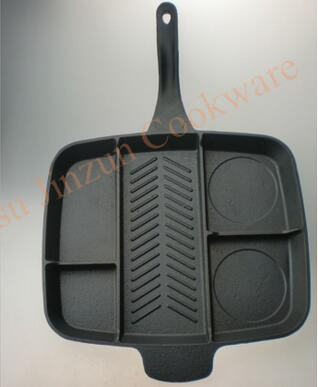 5 Sections Divided Non-stick Grill Master Frying Pan