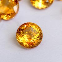 round Citrine Quartz Wholesales Price Yellow Color Loose gemstone rough