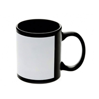 Black Printing Cup Full Color Changing Ceramic Magic Luminous Mug
