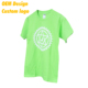 ODM Low cost Cotton spandex Print logo Euro size custom tag Lime O- neck Election T- shirt for Kid