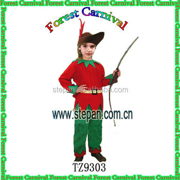 Robin Hood Cartoon Cosplay Costume for Children , Carnival Costume