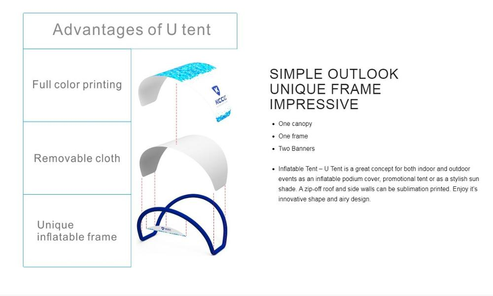 Hot Selling High Quality OEM Accept TPU materiallotus tent Manufacturer China