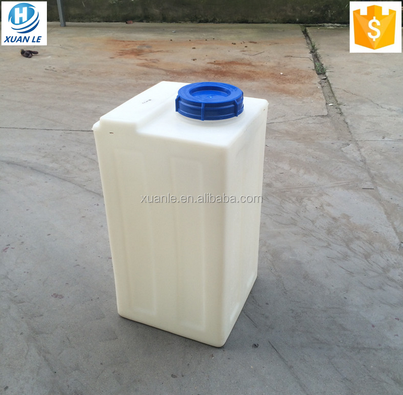 Custom rectangular plastic water tank liter price for
