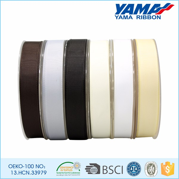 OEM customized 100% polyester solid color 75mm stripe grosgrain ribbon