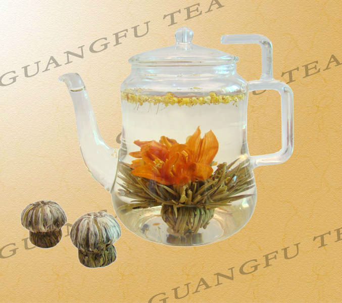 Dan Gui Bai He Osmanthus Lily Blooming tea high grade silver needle with lily and osmanthus flower - 4uTea | 4uTea.com