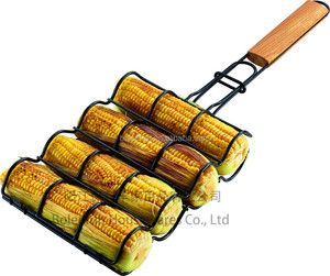 Corn Grilling Basket with Wood Handle Non-Stick Corn Basket for Grilling,BBQ accessories