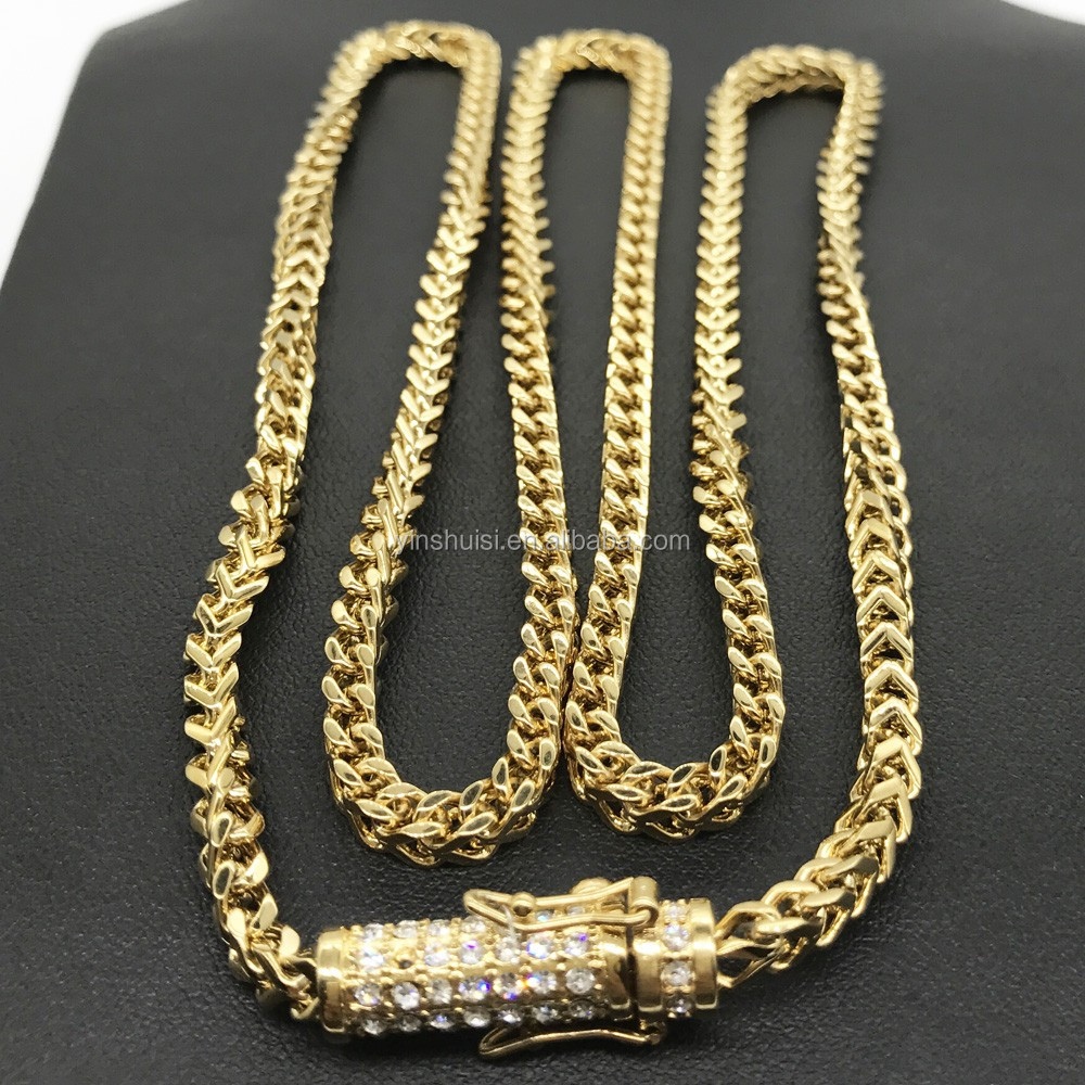 Latest Design Expensive Fashion Jewelry Mens Gold Chain