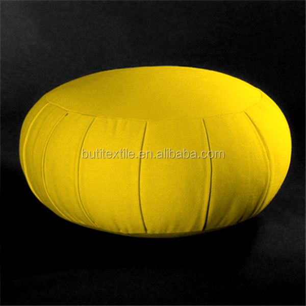 2018 New Meditation cushion Circular pillow Solid color 100% cotton canvas patchwork indoor Round zafu meditation cushions