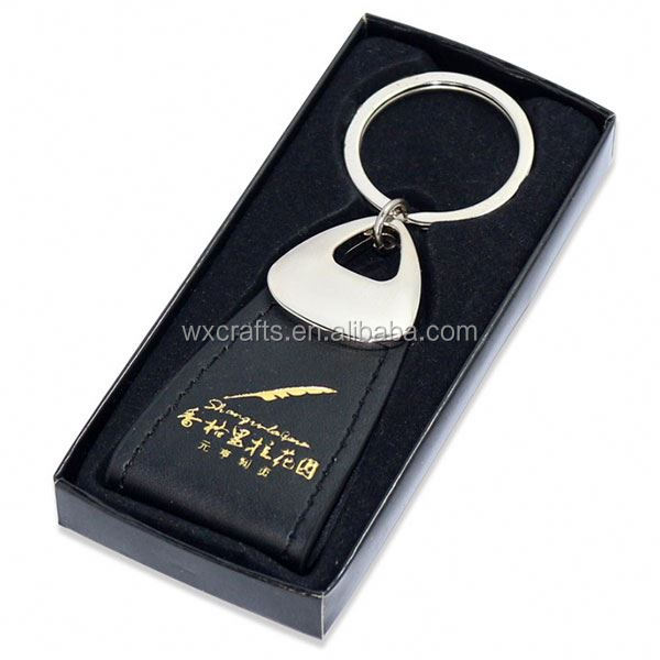 men's punk vintage leather keychain with box