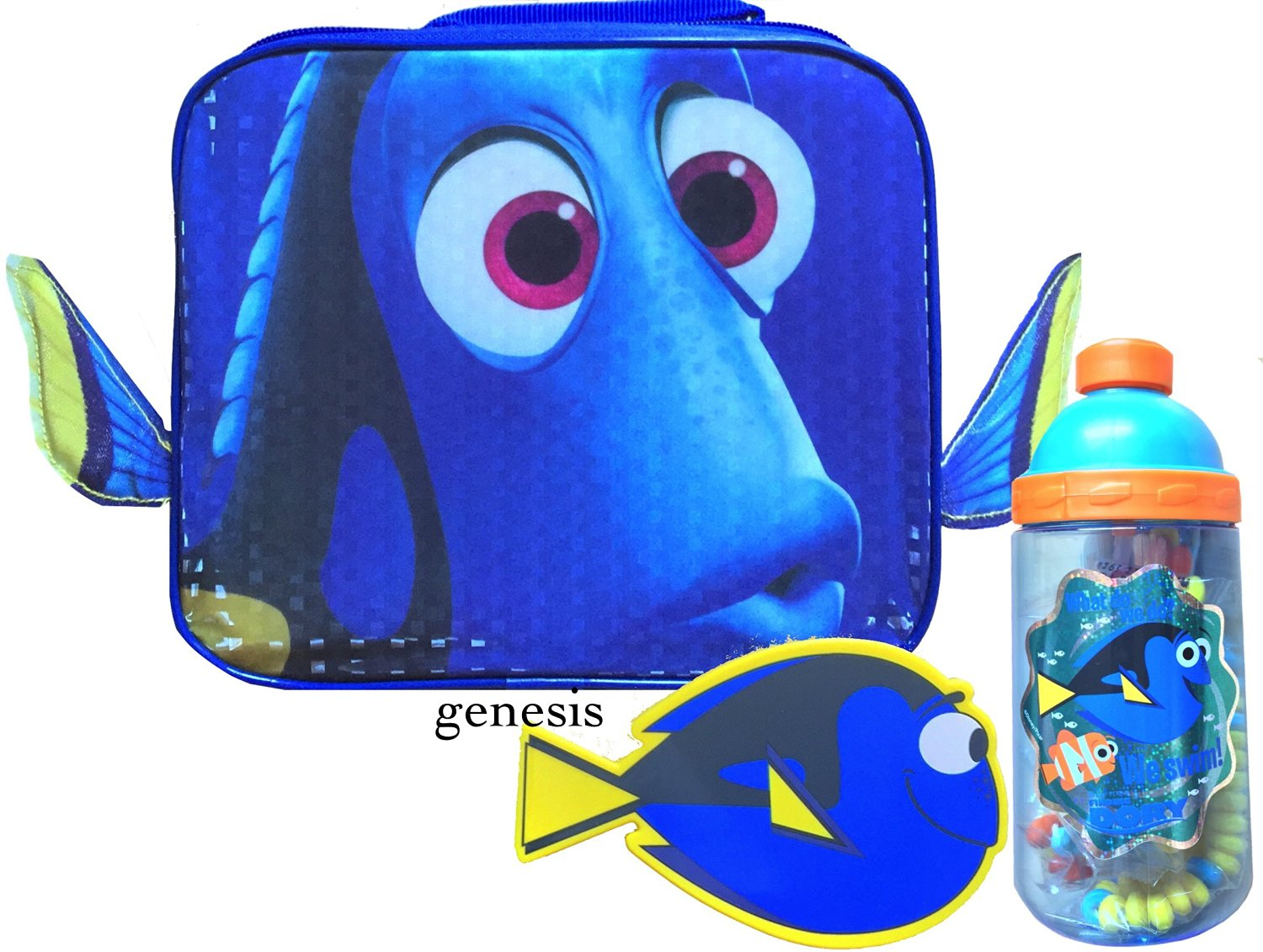 Disney Finding Dory & Nemo Children's Insulated Lunch Box, Snack Container & Water Bottle Back To School Specials Lunch Kits (Tumbler Bottle, Dory)