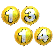 Party Using Helium Number Printed 18 Inch Foil Small Round Balloons