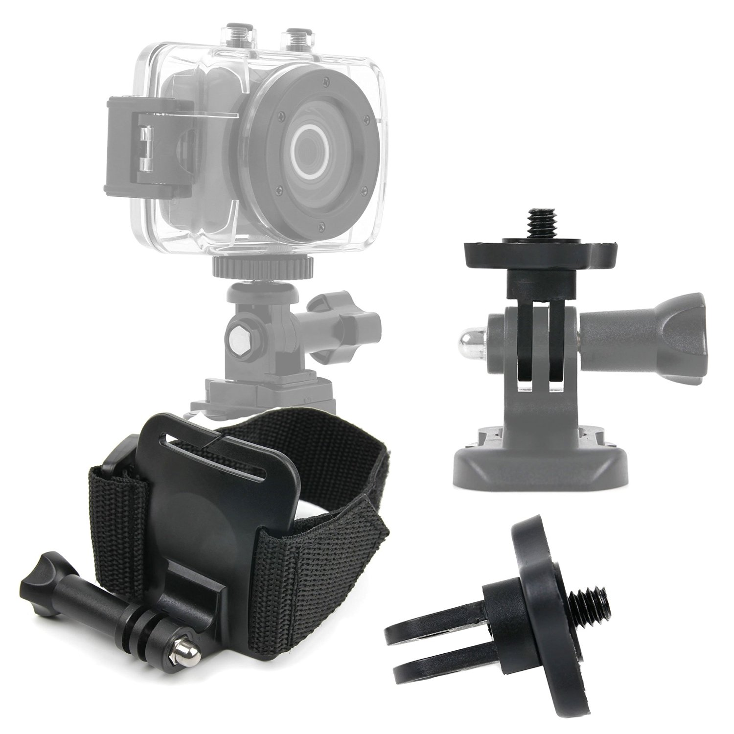 Compatible with Emerson HD Action CAM EVC455 DURAGADGET Quality Bike Handlebar Mount